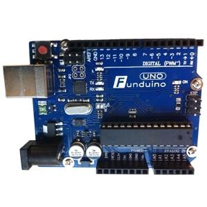 Funduino 相容 Arduino UNO 8bit(含USB線) (含排針)