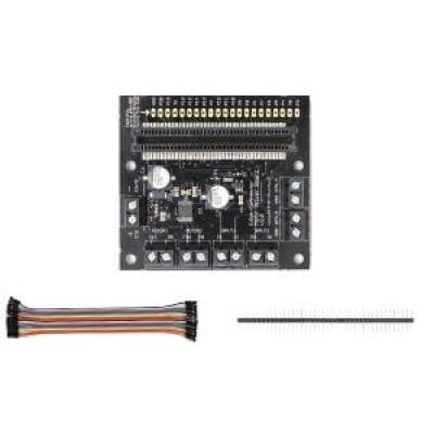 BBC micro:bit -Motor driver board擴充實驗板(含排針與排線)