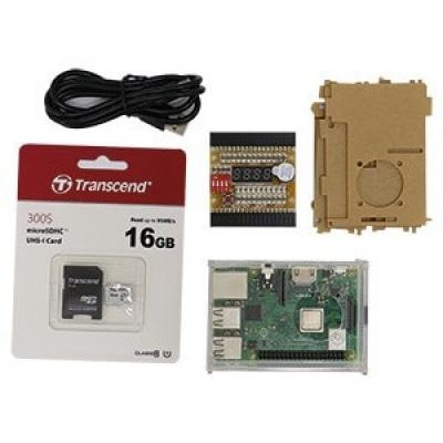 樹莓派GPIO學習教具箱3代B+型(含收納盒、USB線100cm)
