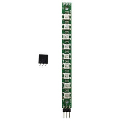WS2812 串列全彩LED模組--直排排列9 顆;附贈3Pin排針母座