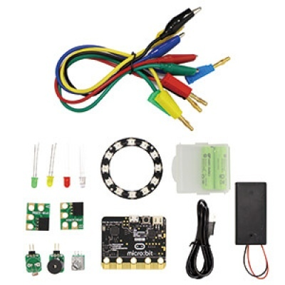 iPOE N2 micro:bit GPIO 學習教具箱(GPIO Kit for micro:bit)(附電池、USB線100cm、收納盒)-micro:bit V1.5適用