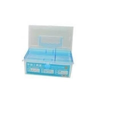 長方雙層塑膠盒(藍色)(四軸智能無人機飛行器適用)