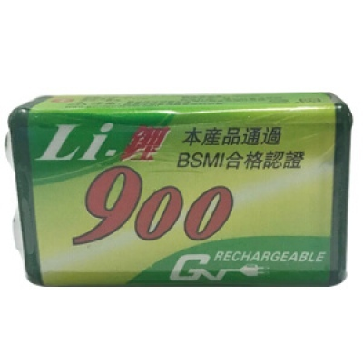 鋰充電電池9V/800mAh(單顆)(收縮膜)