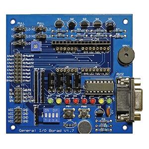 基礎I/O板及受控元件(附包裝盒、含銅柱4個、螺母4個)