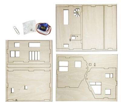 Webduino Smart 智慧小屋 ( 木製外殼材料包 )