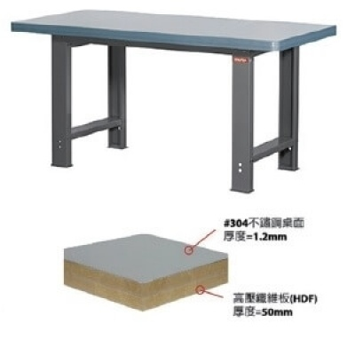 重型工作桌6尺W180xD75xH80cm,不鏽鋼#304桌面