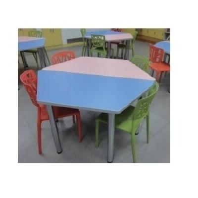 梯形桌4尺W120+60xD60xH74cm