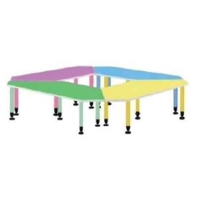 菱形桌4.4尺W133(長73+短42)xD60xH74cm