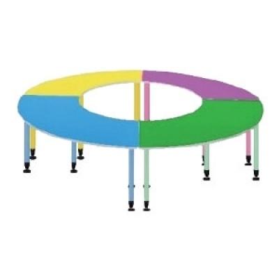 扇形桌4.9尺W148+64(弧長165+71)xD60xH74cm