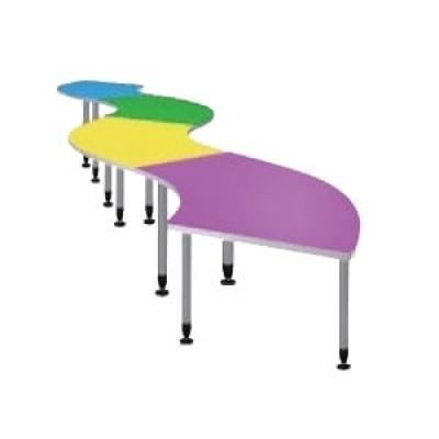 扇形桌4尺W123+53(弧長132+57)xD42xH74cm