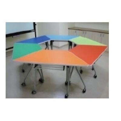 可掀式活動梯形桌4尺W120+60xD60xH74cm